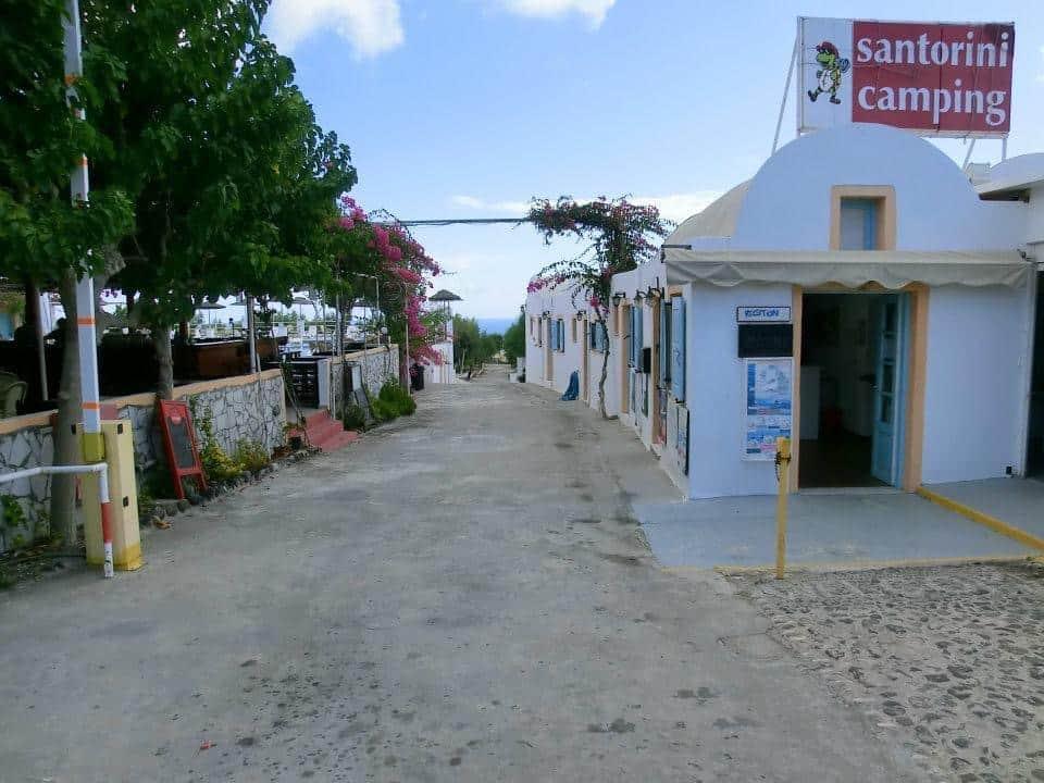 camping santorin