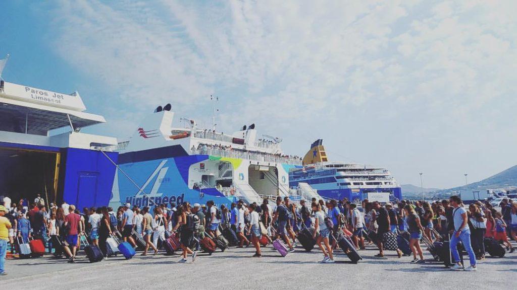 ferry santorin paros