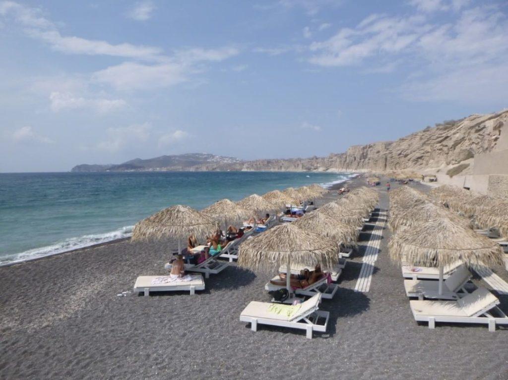 white beach santorin