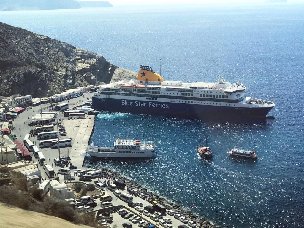 port de santorin