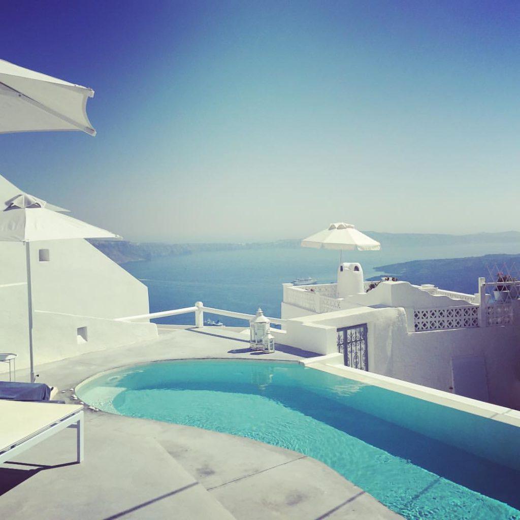 hotel de luxe à santorin
