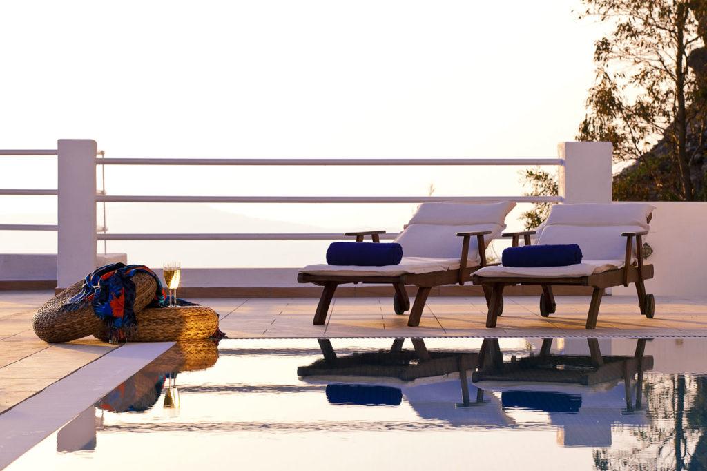 hotel piscine privée santorin
