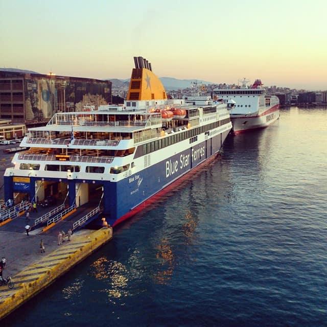ferry pirée santorin