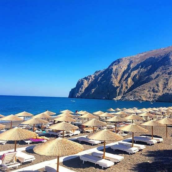 hôtels de plage santorin
