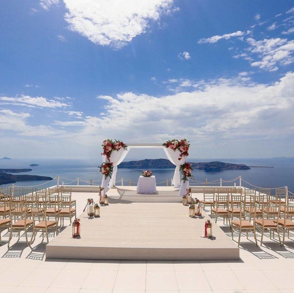 mariage à santorin