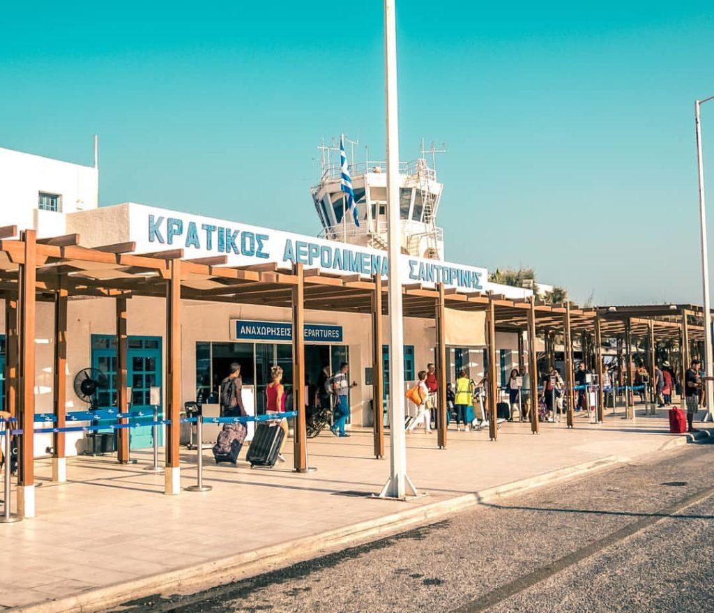 navette aéroport à santorin